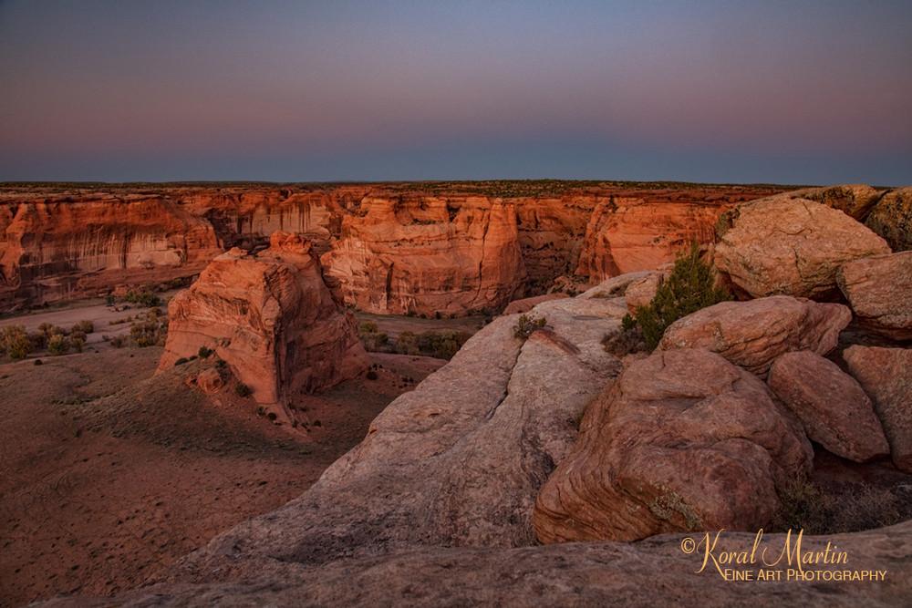 Sunset Canyon De Chelly 3442  Photography Art | Koral Martin Healthcare Art