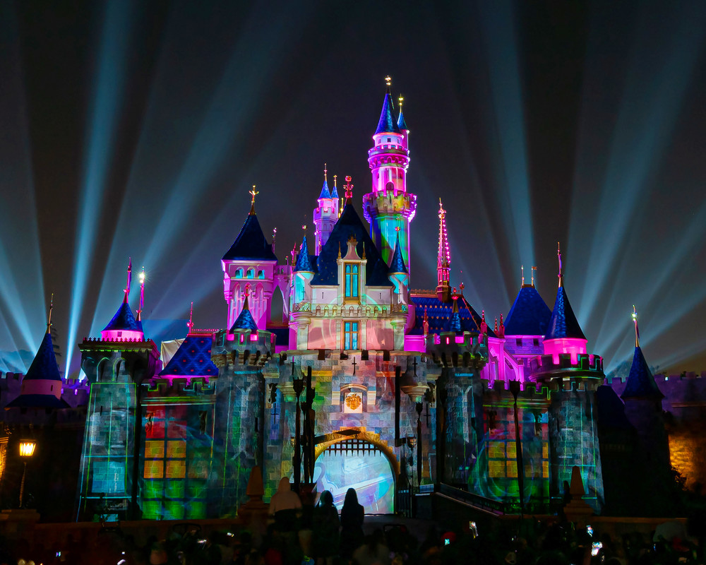 Mickey's Mix Magic with Fireworks Castle - Sleeping Beauty Castle Images