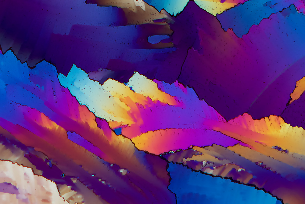 Evening Shadows (Urea Crystals) Art | Carol Roullard Art