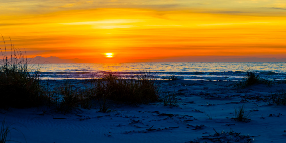 Winter Sunrise on South Beach on Hilton Head
