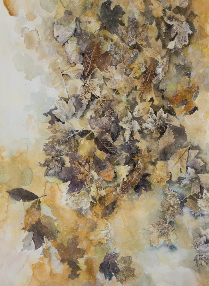 Leaves In A Puddle Art | Romanova Art