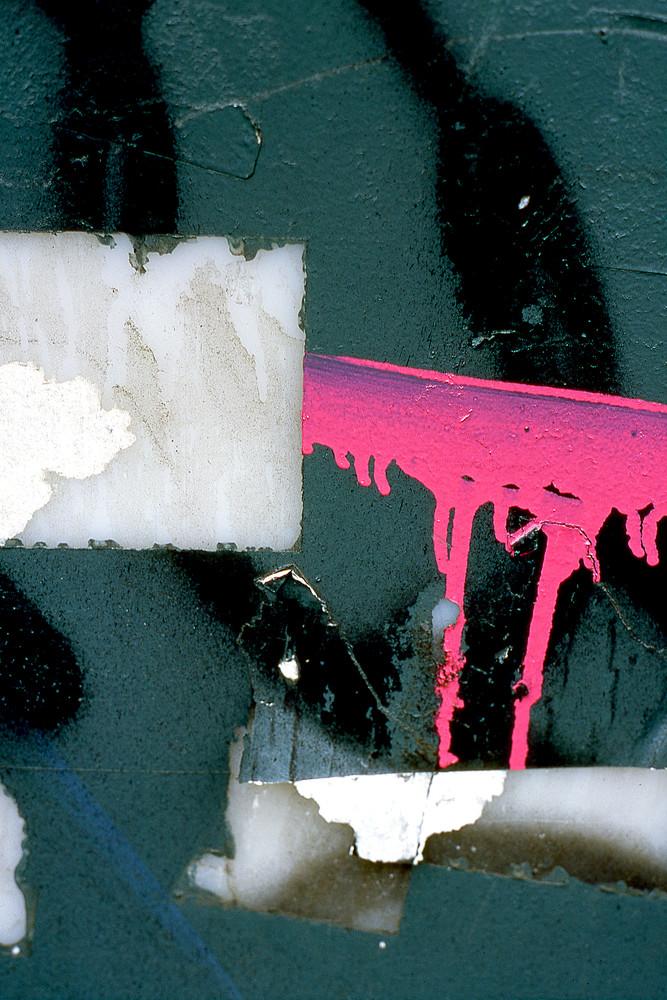 Pink Barricade Abstract Graffiti NYC Print – Sherry Mills
