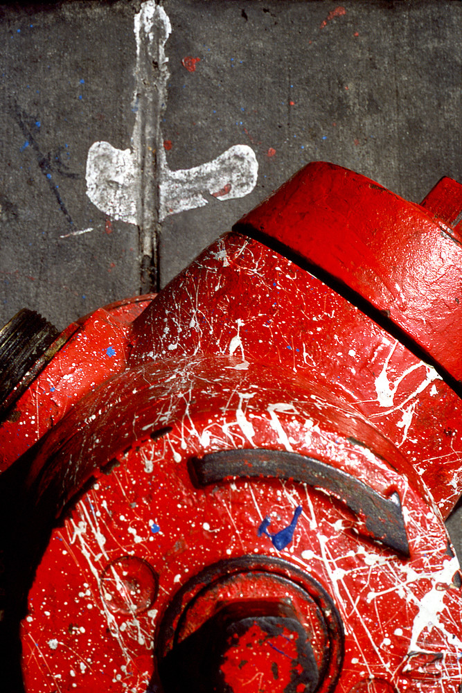 Abstract NYC Red Fire Hydrant Sidewalk Print – Sherry Mills