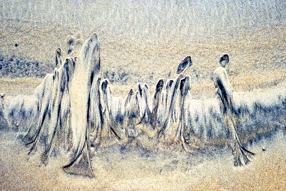 Abstract Sand Family Close-up Beach Print – Sherry Mills