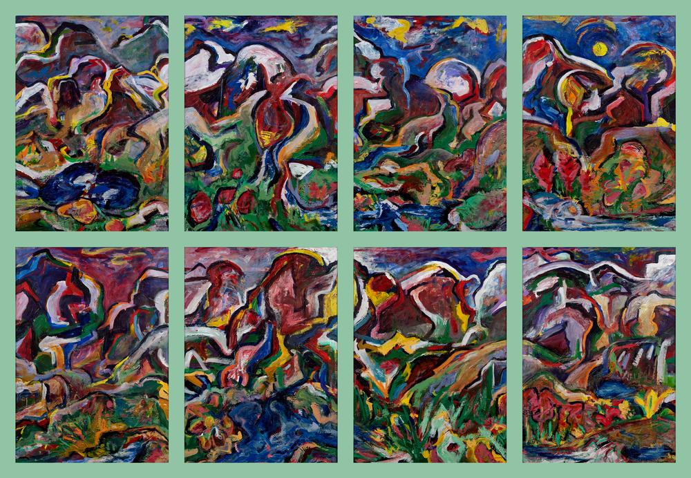 """Weminuche"" Series Of 8 Single Print Reproduction Art | Daniel Kanow Fine Art"