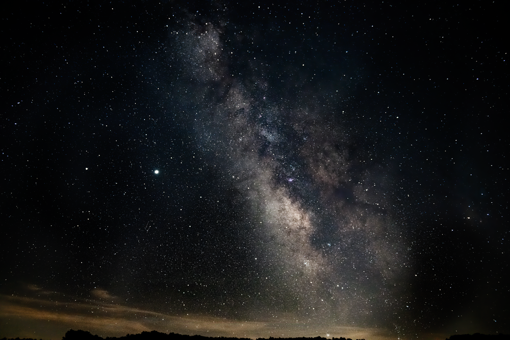 Galactic Core With Two Meteos Photography Art | Eric Hatch