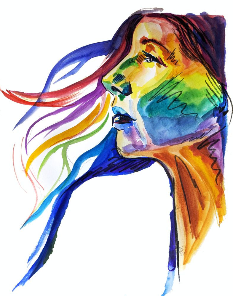 Rainbow (Print Reproduction) Art | Becca Fox Art