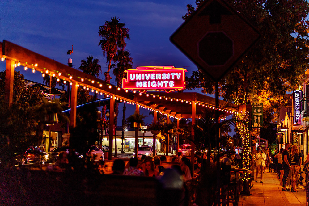 University Heights, San Diego Outdoor Dining during Pandemic