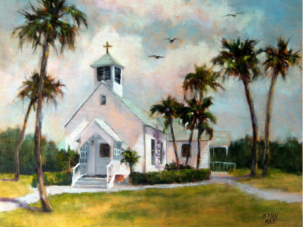 Melbourne Beach Chapel, From an Original Oil Painting