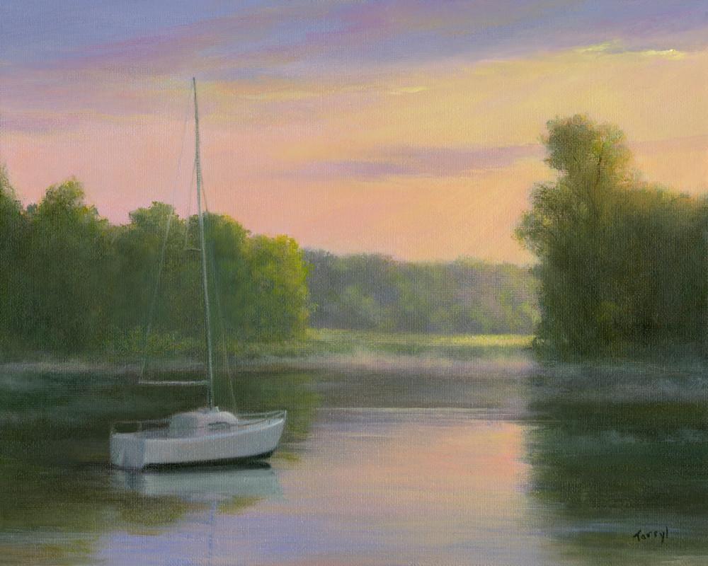 *Moored In The Morning Mist* Art | Tarryl Fine Art