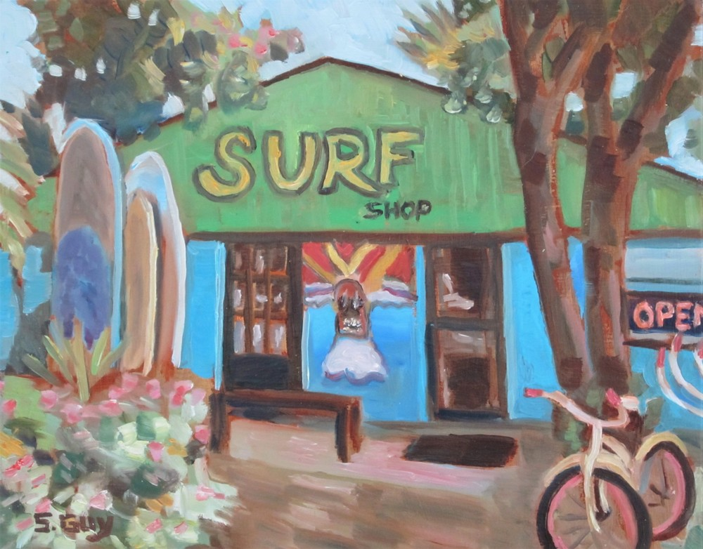Surf Shop Art | Sharon Guy