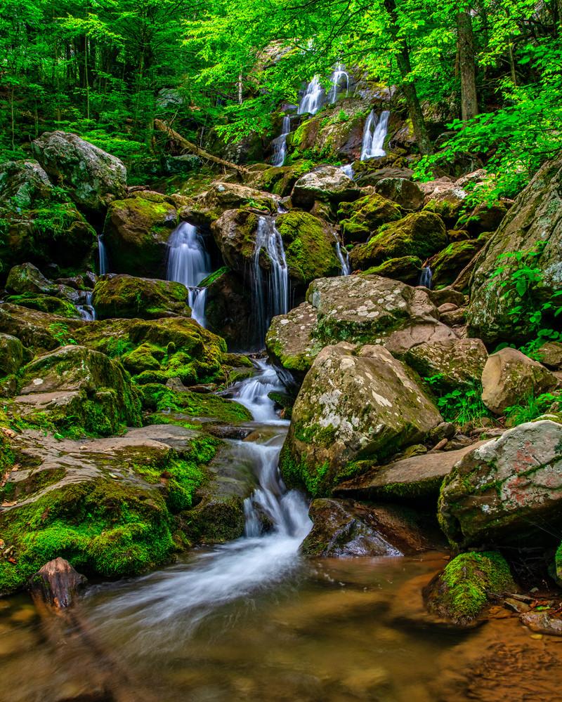 Down Dark Hollow Falls - Waterfalls fine-art photography prints