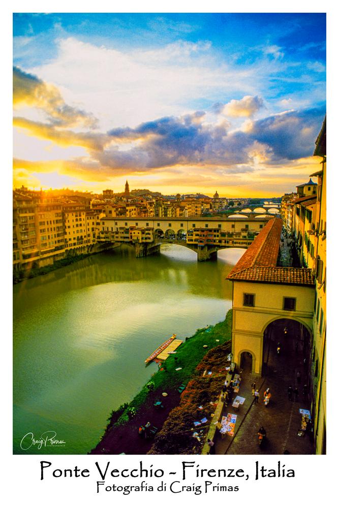 Ponte Vecchio It Fl 051 C Sp Poster Photography Art   Craig Primas Photography