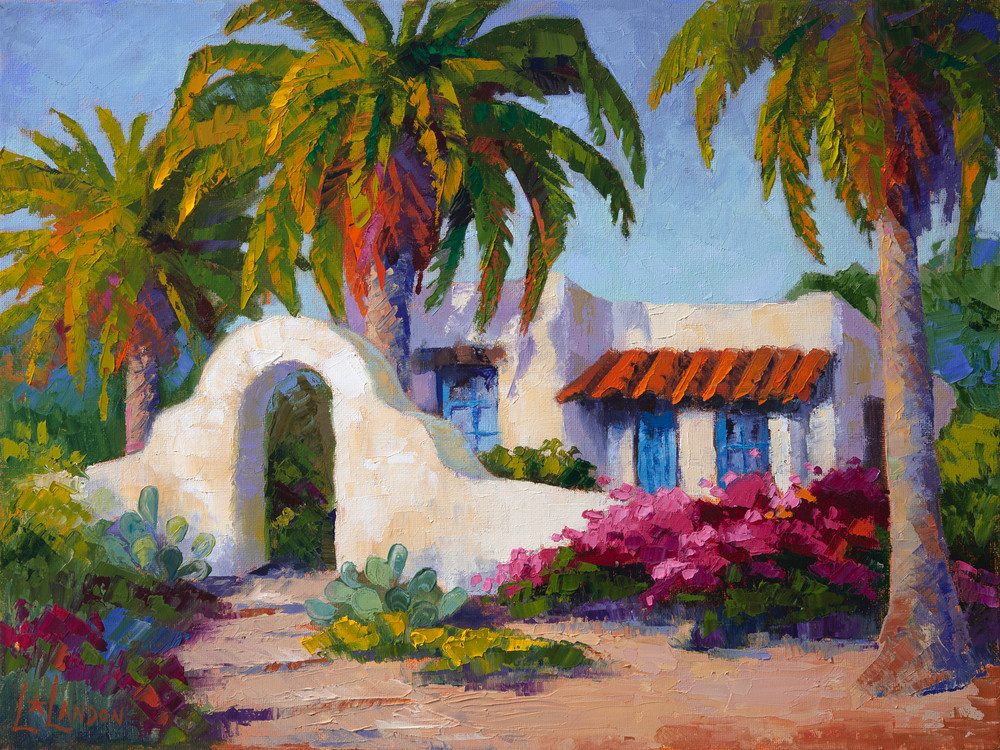 Casita De Las Palmas Art | Linda Star Landon Fine Art