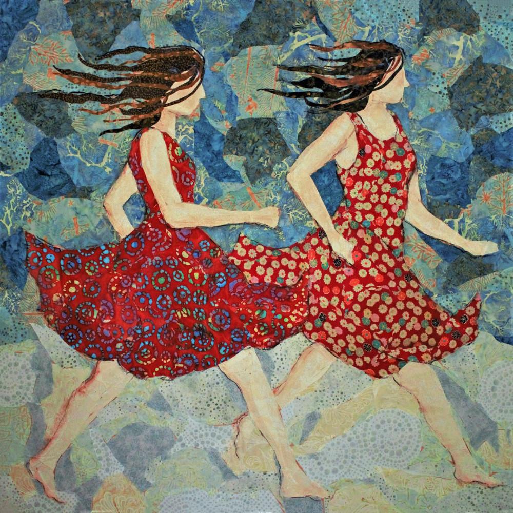 Girls Running Print Art | Sharon Tesser LLC