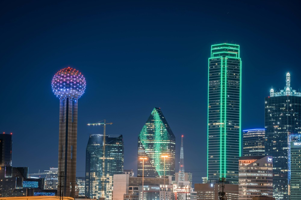 Dallas Skyline At Night In January 2 Photography Art | William Drew Photography