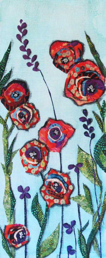 Garden Red Flower Print Art | Sharon Tesser LLC