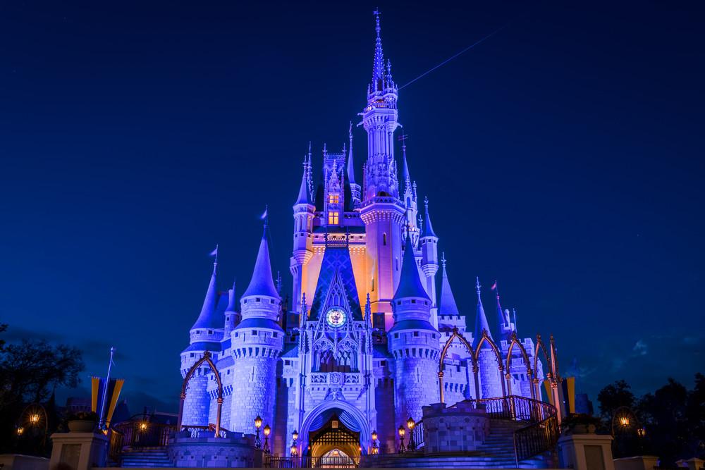Cinderellas Castle At Dusk 2 Photography Art | William Drew Photography