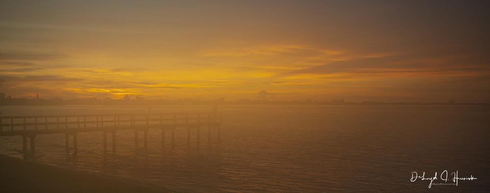 """Foggy Sunset"""