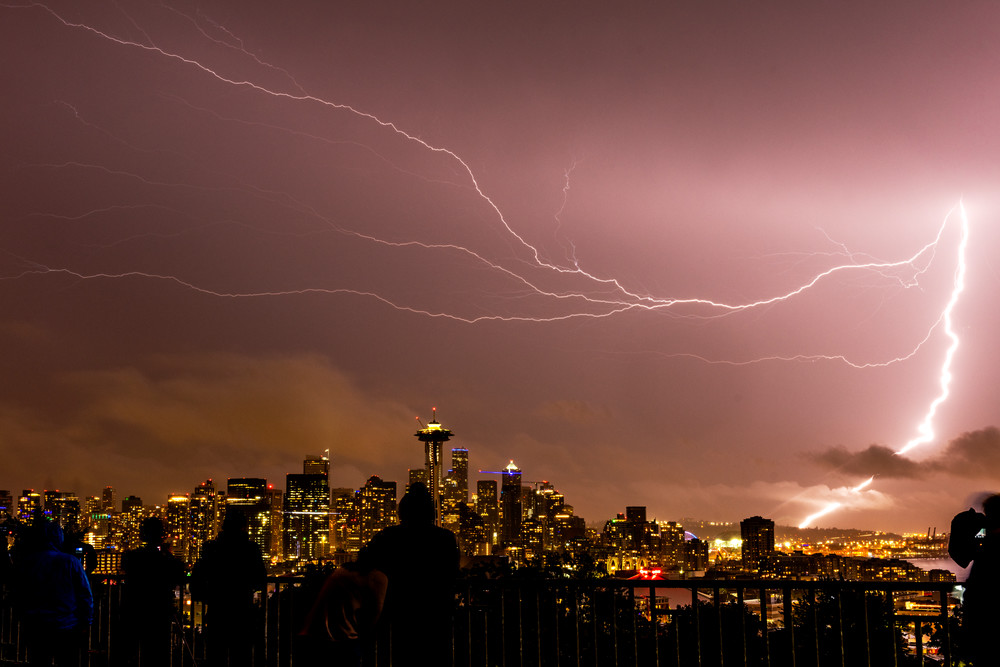 Lightning In Seattle Photography Art | Seattle Digital Photography