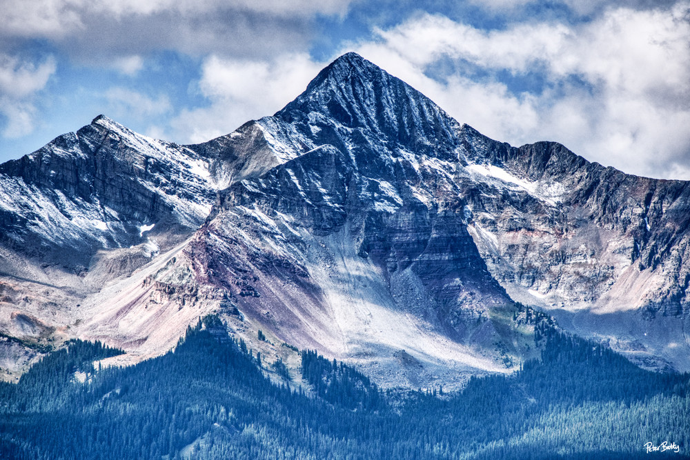 First Snow Of The Season On Wilson Peak (Color) Photography Art | Peter Batty Photography