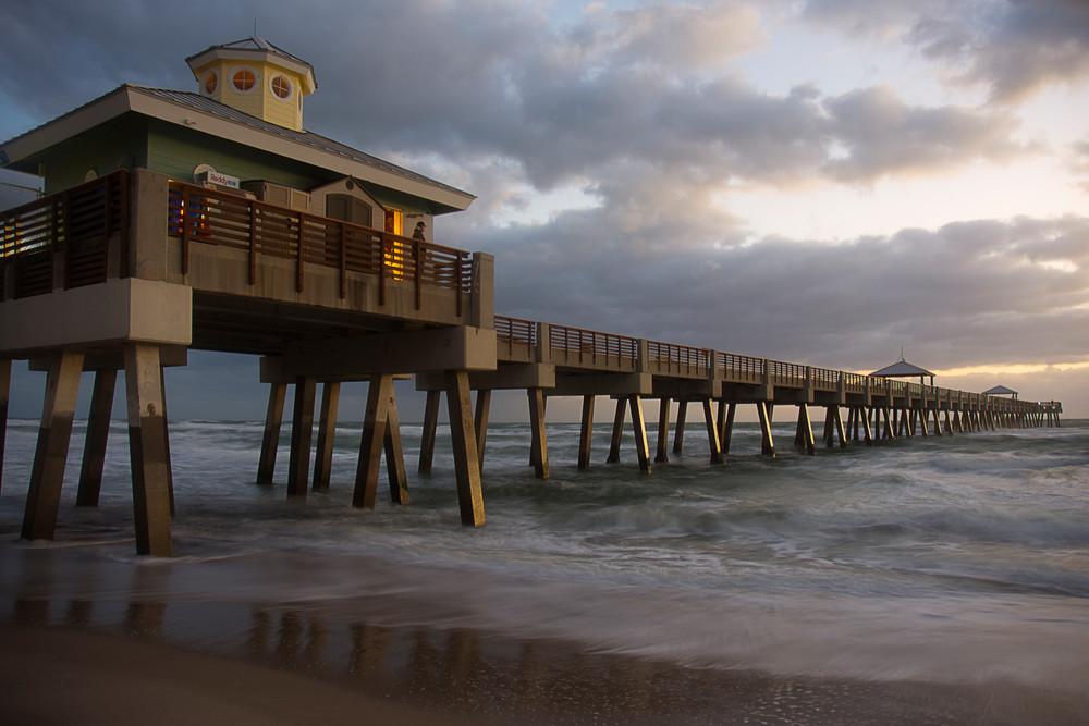 Sunrise At The Pier Art | karenihirsch