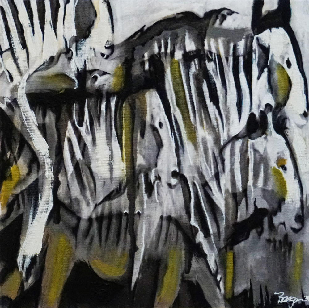 Confusion of Wildebeest No. 1, 2011 by artist Carolyn A. Beegan