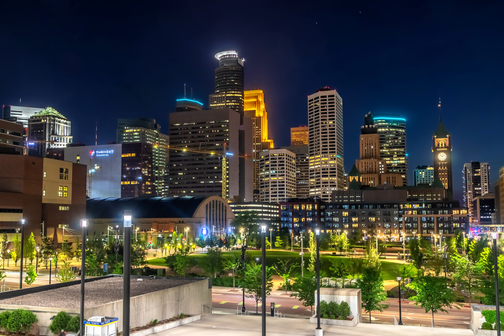 The Commons Skyline - Minneapolis Skyline | William Drew Photography
