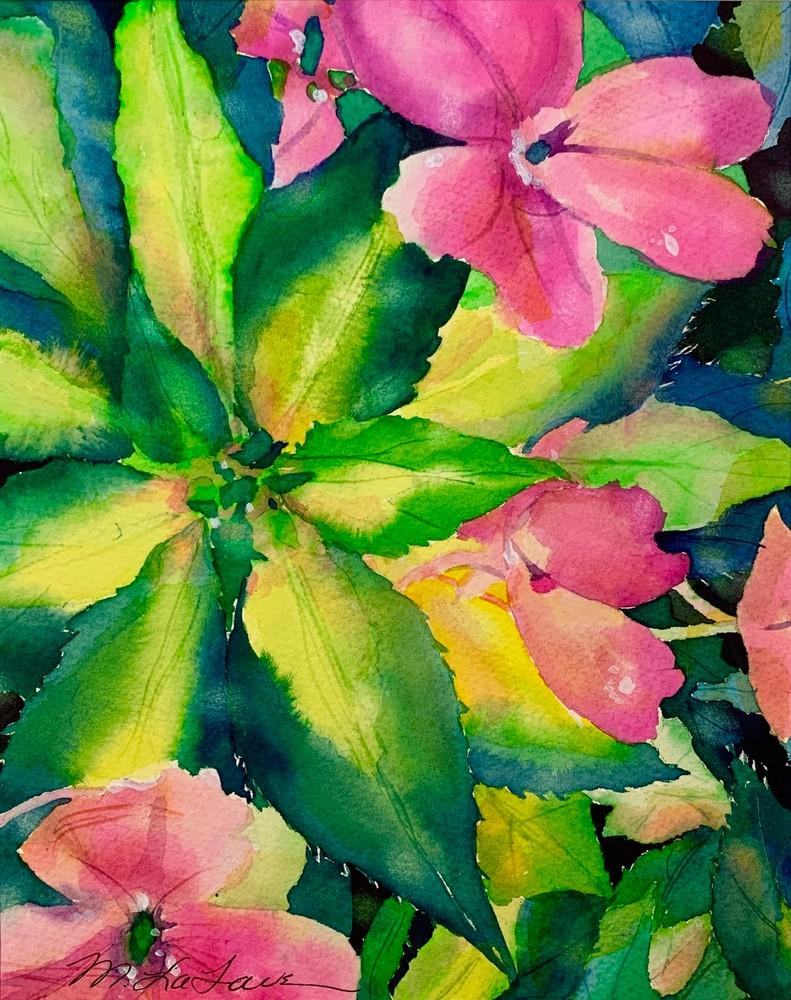 Flowering Vinca Art | Mickey La Fave