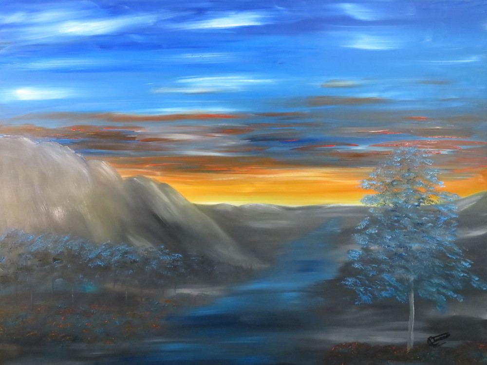 Blue Sunset Art | Artist Ron Turner