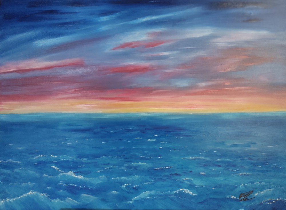 High Seas Sunset Art | Artist Ron Turner