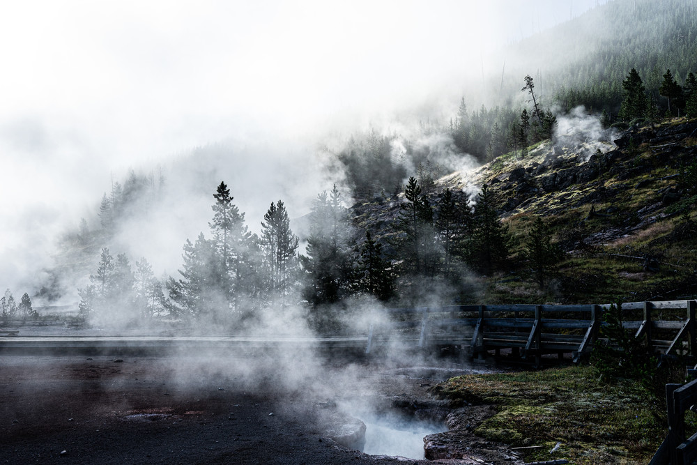 Primordial - Artists paint pot hot springs in Yellowstone National Park photograph print