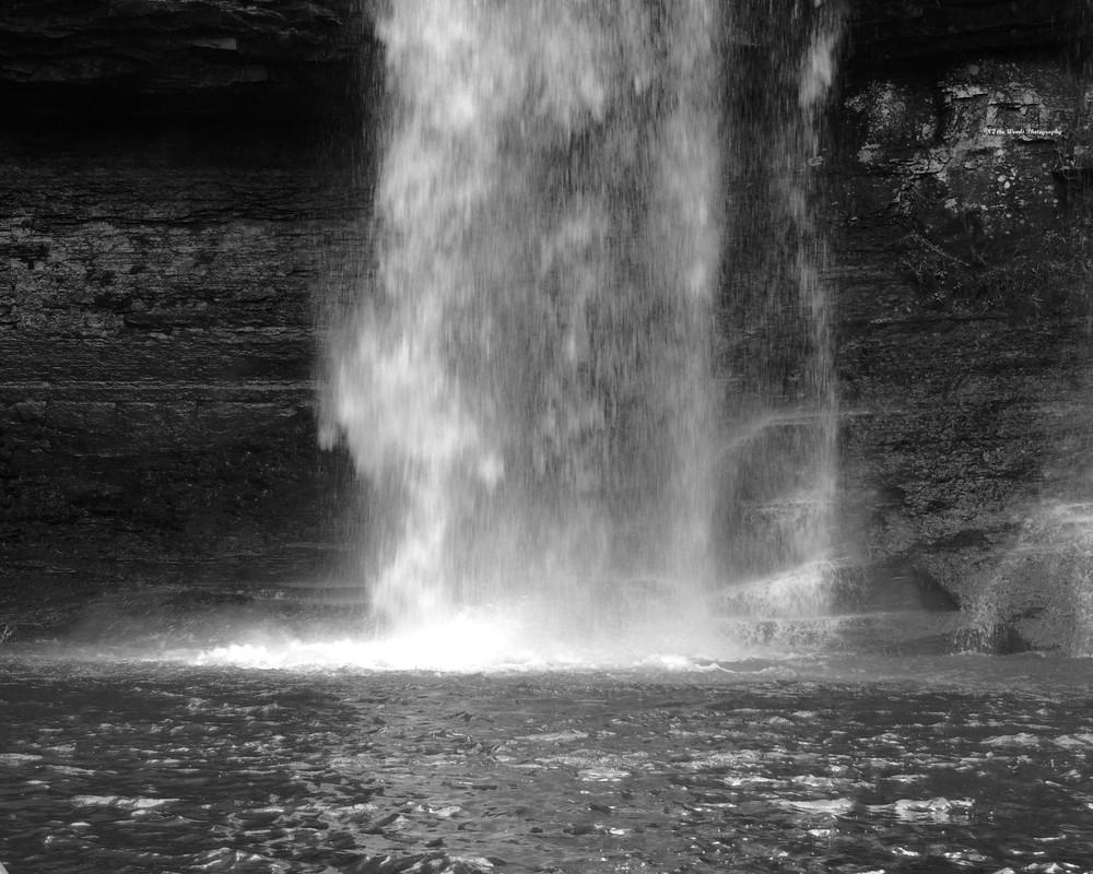 Cherokee Falls   B W Photography Art   N2 the Woods Photography