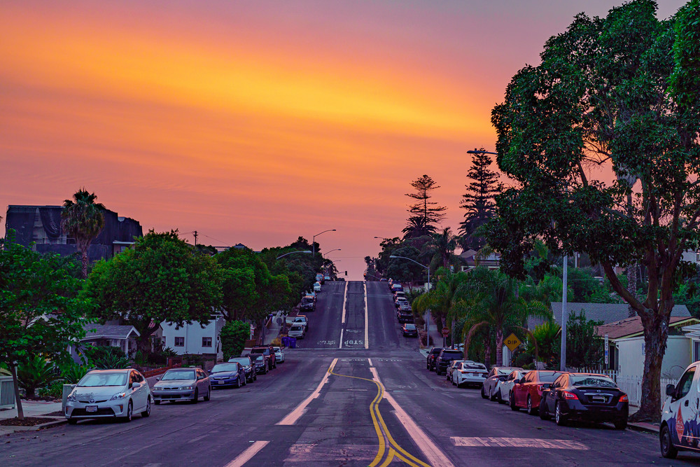 Fire in the Sky in University Heights, San Diego by McClean Photography