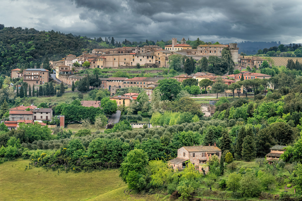 Spring storm in Tuscany