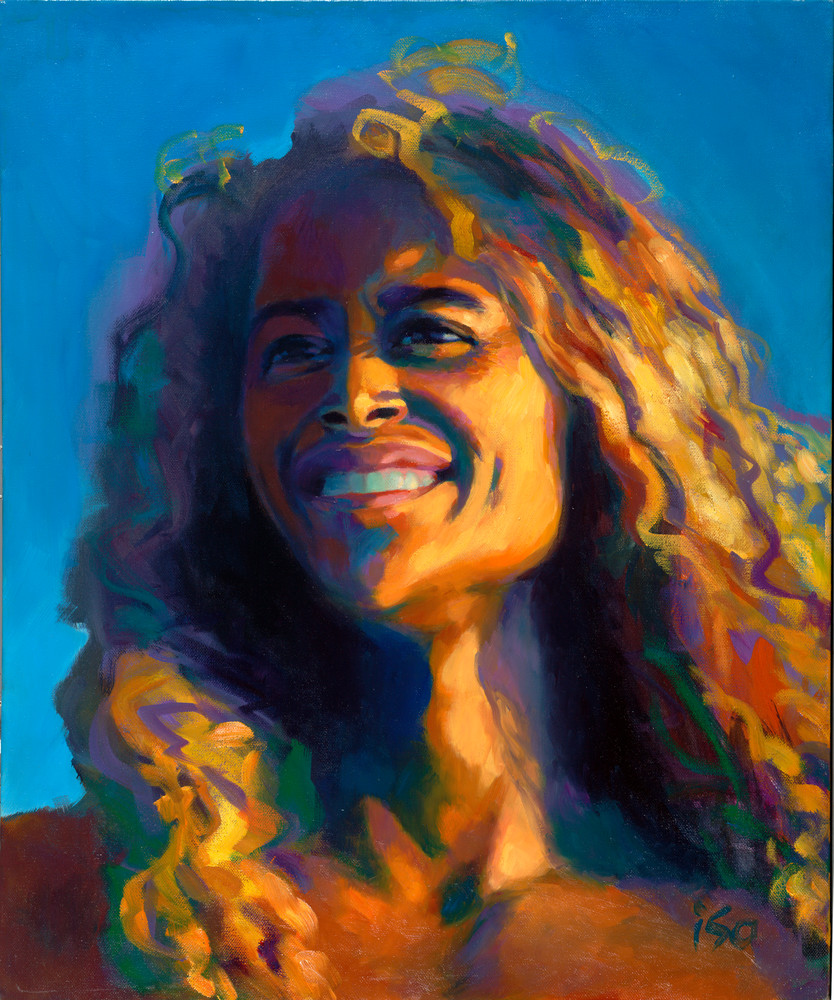 Isa Maria paintings, prints - Hawaii goddess portraits - Hotumatua, the First Navigator