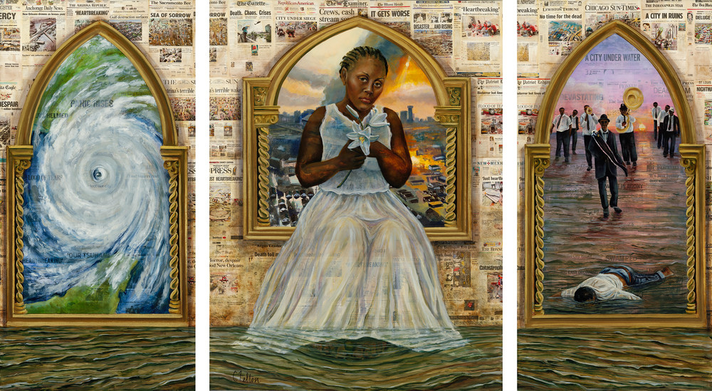 The Katrina Triptych Art | Channe Felton Fine Art