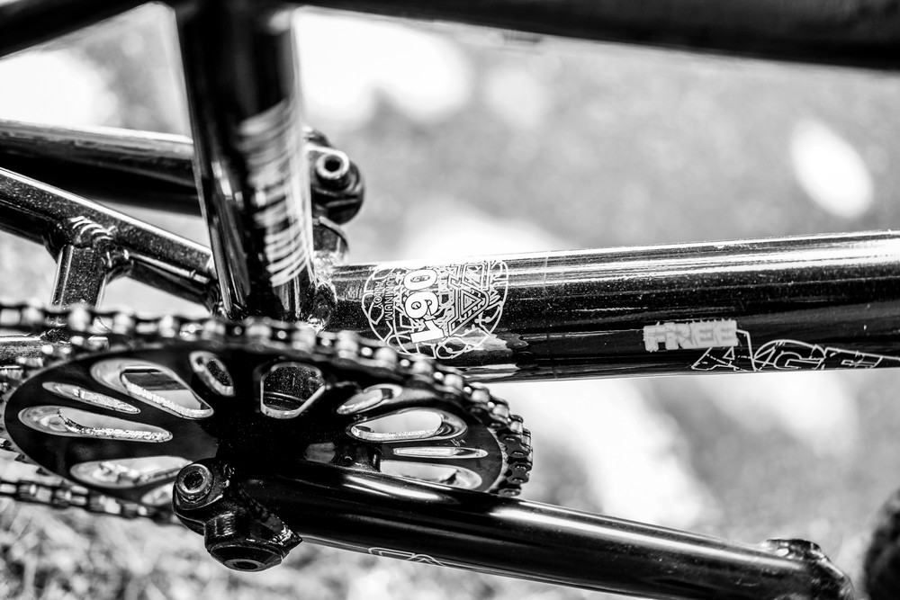 Closeup Bike Gears B&W Photography Art | Julie Williams Fine Art Photography