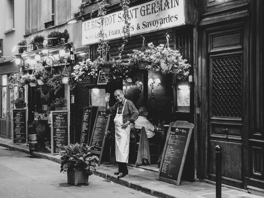 Parisien Waiter B&W Photography Art | Julie Williams Fine Art Photography
