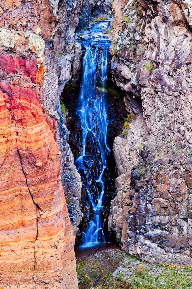 Upper Frijoles Falls I - A Fine Art Photograph by Marcos R. Quintana