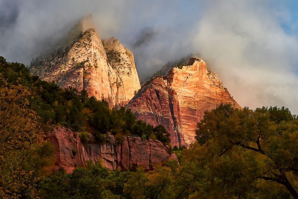 Sunrise in Zion Canyon