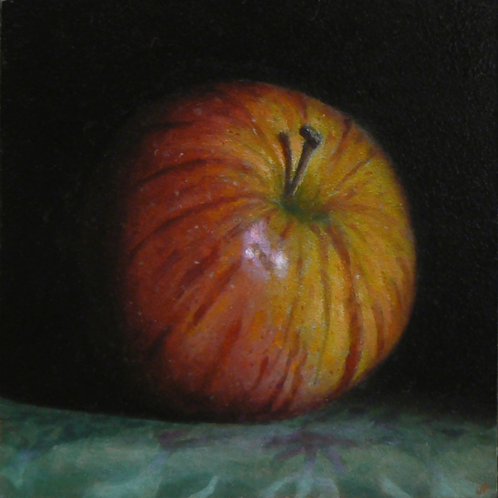 Red Apple No. 6 Art | Jeff Hayes Fine Arts