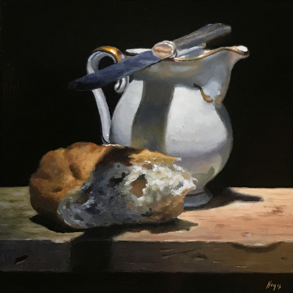 Creamer, Knife, Bread Art | Jeff Hayes Fine Arts