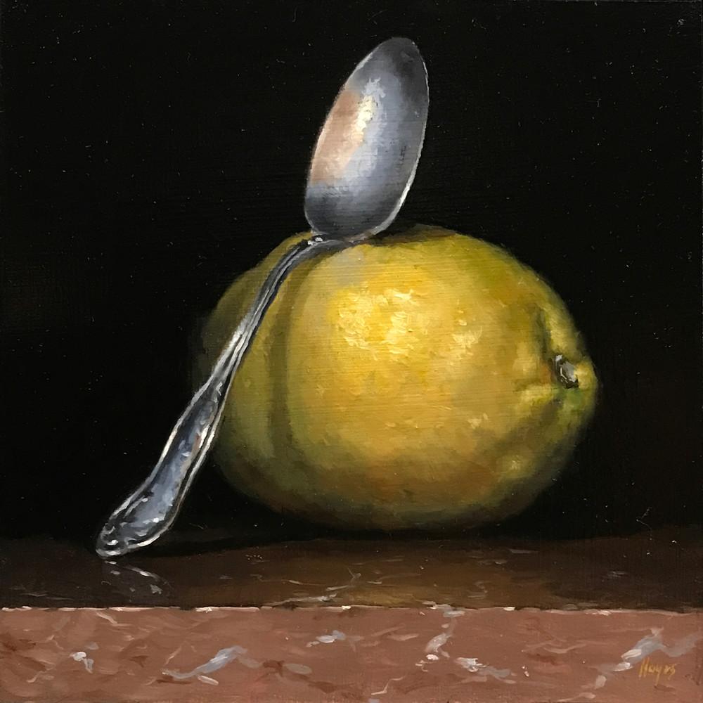 Lemon And Silver Spoon Art   Jeff Hayes Fine Arts
