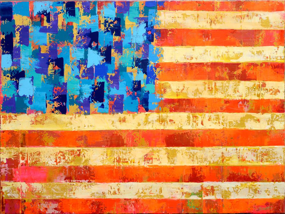 American Flag Checked Hi Res Art   benbonart