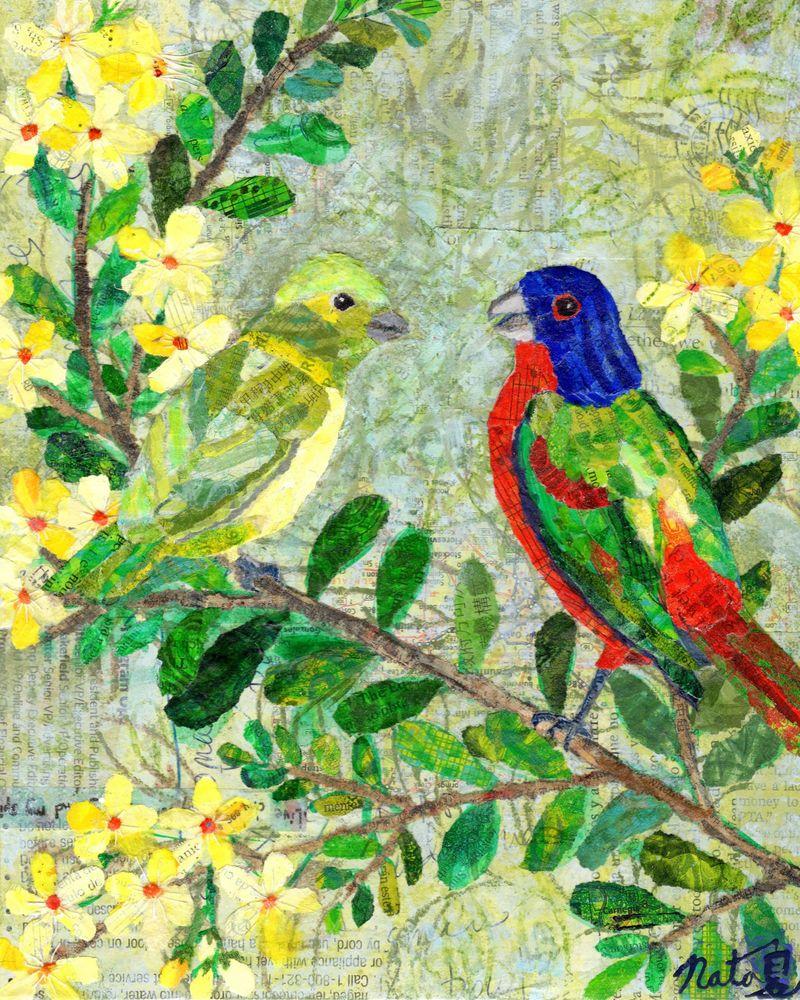 When Birds Talk About Bees Art   Poppyfish Studio