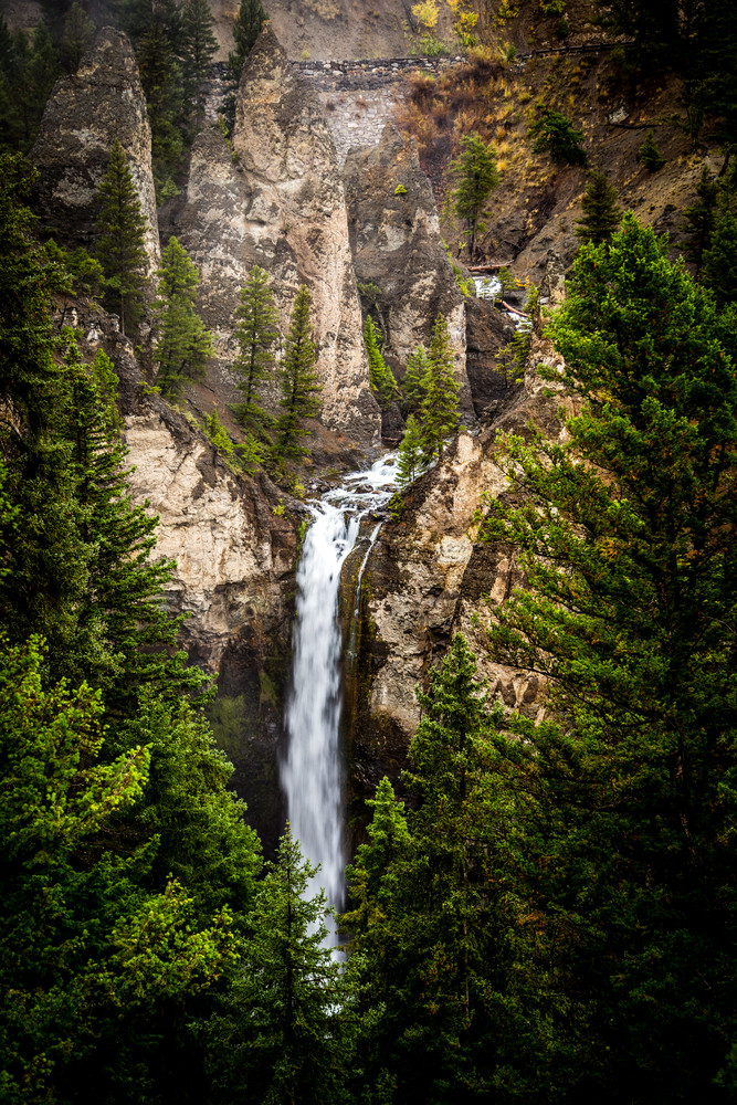 Photograph of Tower Falls WaterFall in Yellowstone