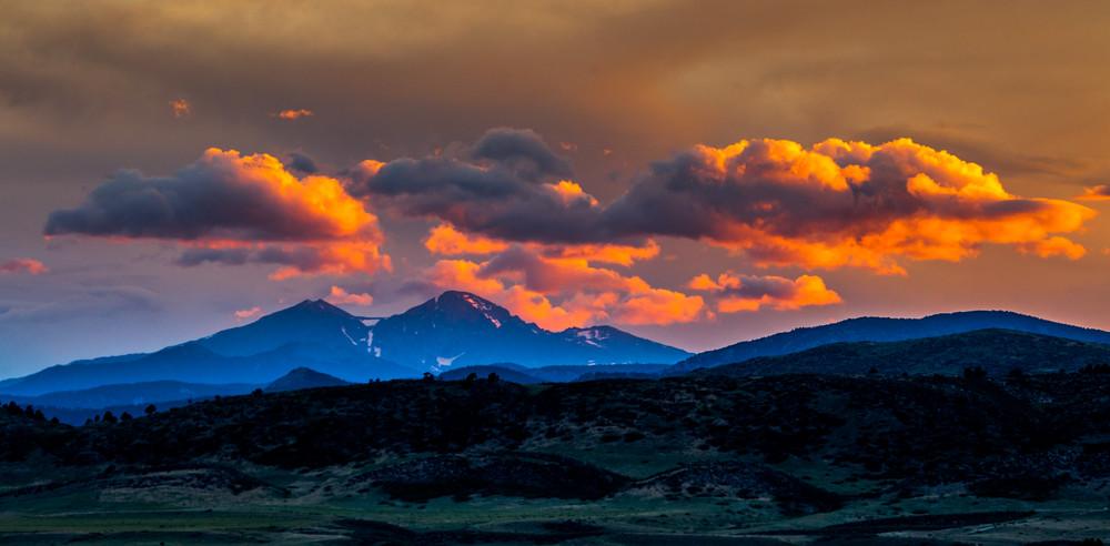 Longs PEak Loveland Colorado Sunset Art
