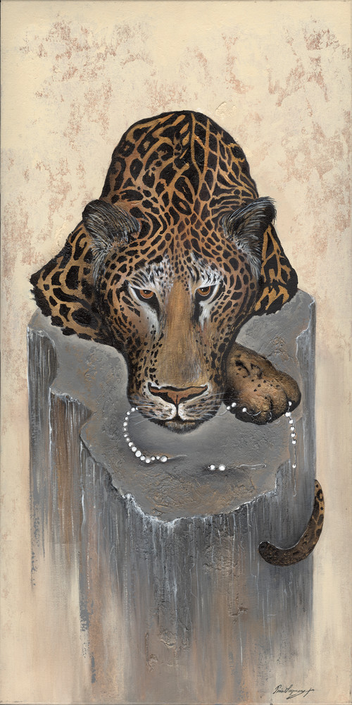 24 X48 Jaguar And Pearls Art | Studio Alive, Inc.