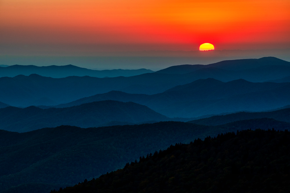 Clingman's Dome Sunset - Great Smoky Mountains National Park fine-art photography prints